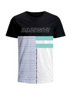 Camiseta para hombre en Tejido De Punto 100% Algodón Peinado Abierto Manga Corta marca Nexxos 39677-008