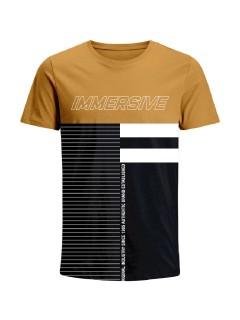 Camiseta para hombre en Tejido De Punto 100% Algodón Peinado Abierto Manga Corta marca Nexxos 39677-067