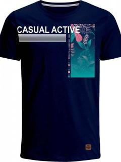 Camiseta para Hombre en Tejido de Punto 96% Algodón 4% Elastano Manga Corta  Nexxos 39376