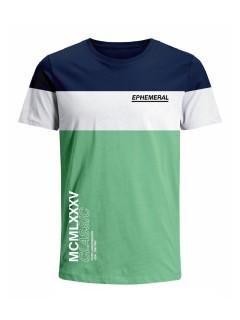 Camiseta para hombre en Tejido De Punto 100% Algodón Peinado Abierto Manga Corta marca Nexxos 39735-005