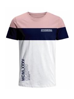 Camiseta para hombre en Tejido De Punto 100% Algodón Peinado Abierto Manga Corta marca Nexxos 39735-420