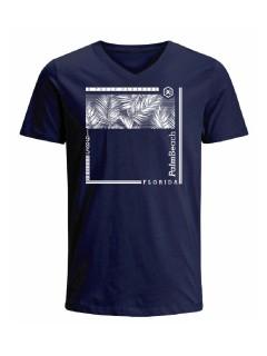 Camiseta para hombre en Tejido De Punto 100% Algodón Peinado Abierto Manga Corta marca Nexxos 39787-005