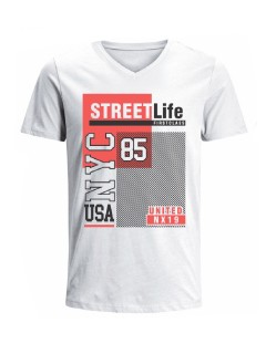 Camiseta para hombre en Tejido De Punto 100% Algodón Tubular Manga Corta marca Nexxos 39790-000