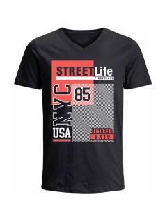 Camiseta para hombre en Tejido De Punto 100% Algodón Tubular Manga Corta marca Nexxos 39790-008