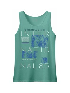 Camiseta para hombre en Tejido De Punto 100% Algodón Peinado Abierto Manga Sisa marca Nexxos 39809-410