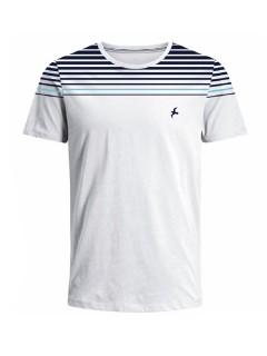 Camiseta para hombre en Tejido De Punto 100% Algodón Peinado Abierto Maga Corta marca Nexxos 39814-000