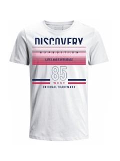 Camiseta para hombre en Tejido De Punto 100% Algodón Tubular Maga Corta marca Nexxos 39821-000