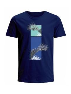 Camiseta para hombre en Tejido De Punto 100% Algodón Peinado Abierto Maga Corta marca Nexxos 39825-005