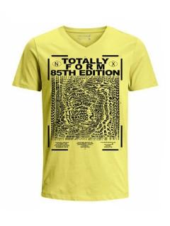 Camiseta para hombre en Tejido De Punto 100% Algodón Tubular Manga Corta marca Nexxos 39892-080