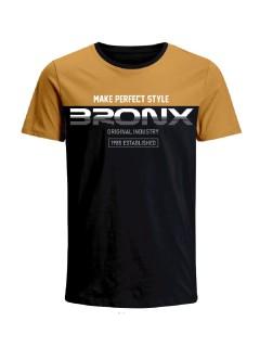 Camiseta Codigo Bronxs para hombre en Tejido De Punto 100% Algodón Peinado Abierto Manga Corta marca Nexxos 100110-008