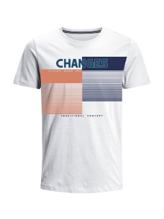 Camiseta para Hombre en Tejido de Punto 100% Algodón Peinado Abierto Manga Corta  Nexxos 39382