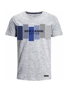 Camiseta para Hombre en Tejido de Punto 100% Algodón Peinado Abierto Manga Corta  Nexxos 39388