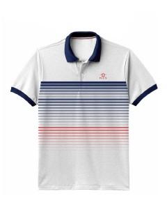 Camiseta para Hombre  tipo Polo en Tejido Fraccionado Pique 96% Algodón 4% Elastano Regular Fit Manga Corta  Nexxos 39422