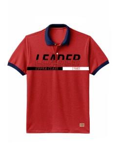 Camiseta para Hombre Tipo Polo en Tejido Fraccionado 96% Algodón 4% Elastano Regular Fit Manga Corta Nexxos 39614-001