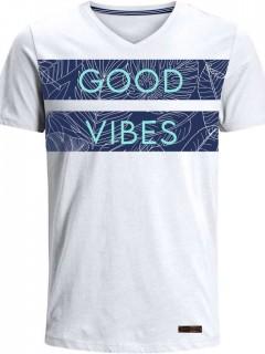 Camiseta para Hombre en Tejido de Punto 96% Algodón 4% Elastano Manga Corta  Nexxos 39381