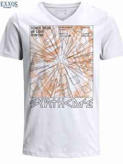 Camiseta para Hombre en Tejido de Punto 100% Algodón Tubular Nexxos 39464